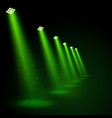 glowing green spotlights vector image