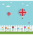 great britain hot air balloons vector image vector image