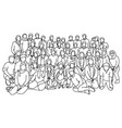 group people together sketch vector image vector image