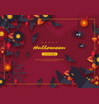 halloween holiday background paper cut style vector image vector image