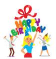 happy birthday party celebration vector image