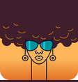 head a girl african nationality with vector image
