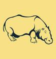 Hippopotamus Line Art vector image vector image