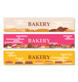 horizontal bakery banners vector image