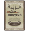 hunting club open season sketch poster vector image vector image