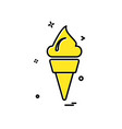 ice cream icon design vector image