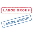 large group textile stamps vector image vector image