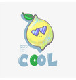 lemon cute cool character in sun glasses fashion vector image