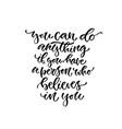 lettmodern lettering inspirational hand lettered vector image vector image