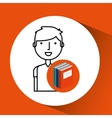 library books school college student vector image