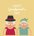 light yellow color card with half body couple of vector image vector image
