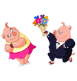 loving pigs vector image