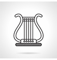 Lyre black line icon vector image