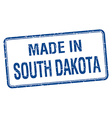 made in South Dakota blue square isolated stamp vector image vector image