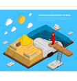 Magical World Inside Book Isometry vector image vector image