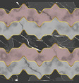 marble luxury striped seamless pattern with golden vector image vector image