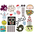 Mix of different images and icons vol67 vector image