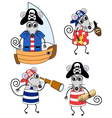 mouse pirates vector image vector image