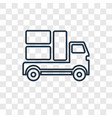 moving truck concept linear icon isolated on vector image vector image
