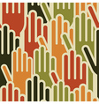 Multi-Ethnic hands seamless pattern vector image vector image