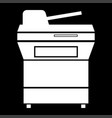 multifunction printer or automatic copier icon vector image