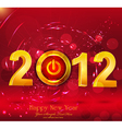 new year background with a button power vector image vector image