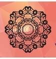 Ornament card with mandala like design Geometric vector image vector image