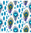 peacock blue and green seamless pattern vector image vector image