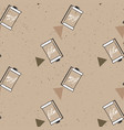 photographic film pattern on kraft paper vector image vector image