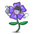 pirate periwinkle flower character cartoon vector image