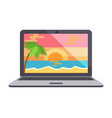 power laptop icon isolated vector image vector image