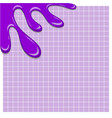 purple ink spilled on lined paper background vector image