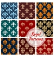 Royal paterns of stylized floral decor ornament vector image vector image