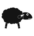 scared sheep icon simple style vector image