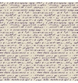 Seamless background of abstract handwriting vector image vector image