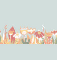 seamless border spring flower meadow vector image