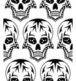 seamless pattern of black sugar skull vector image