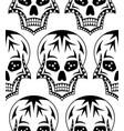seamless pattern of black sugar skull vector image vector image