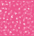 seamless pattern with white hearts vector image vector image