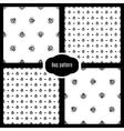 Set bug seamless pattern vector image vector image
