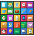 Set of colorful modern flat style icons with long vector image
