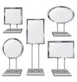 Set of Five Chrome Sign Holders vector image