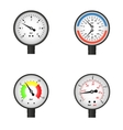 set of manometers vector image vector image