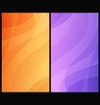 set vertical abstract backgrounds vector image vector image