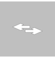 side arrow computer symbol vector image vector image