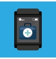 smartwatch device health bag fisrt aid vector image vector image