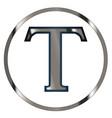 tau greek letter vector image vector image
