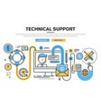 technical support vector image vector image