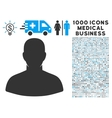 User Icon with 1000 Medical Business Symbols vector image vector image