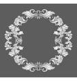 Vintage baroque frame border with leaf scroll vector image vector image